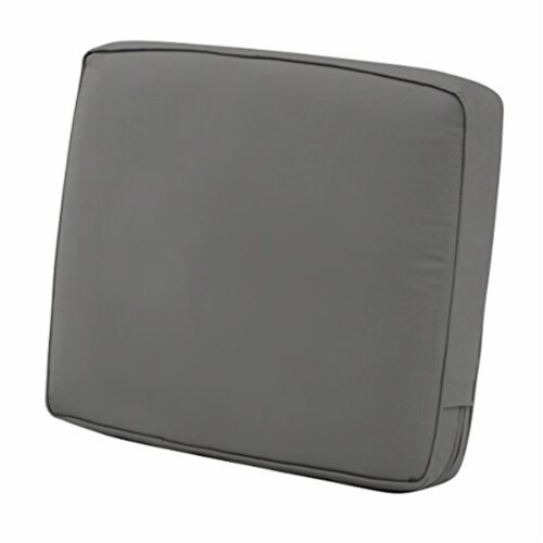 Classic Accessories 62-040-LCHARC-EC 4 x 23 x 22 in. Back Cushion Combo - Charcoal Perspective: front