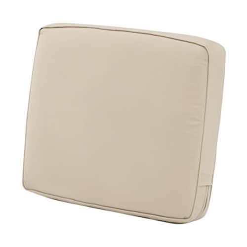 Classic Accessories 4 x 19 x 20 in. Back Cushion Combo - Beige Perspective: front