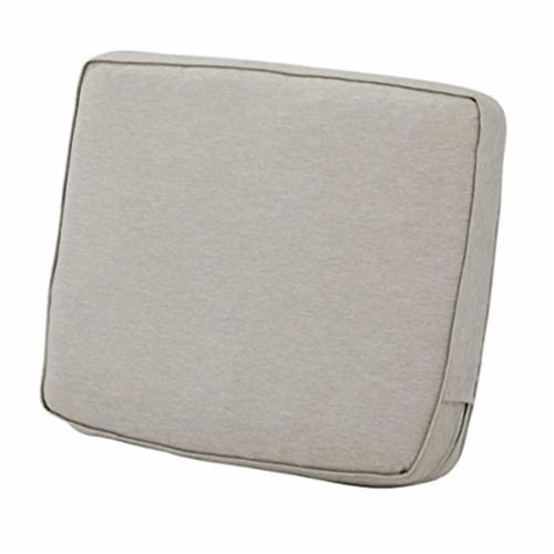 Classic Accessories 62-047-HGREY-EC 4 x 19 x 20 in. Back Cushion Combo - Grey Perspective: front