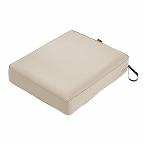 Classic Accessories 62-053-BEIGE-EC 5 x 23 x 25 in. Seat Cushion Combo - Beige Perspective: front