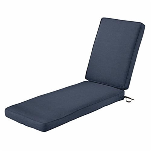 Classic Accessories 62-029-INDIGO-EC 3 x 80 x 26 in. Seat Cushion Combo - Indigo Perspective: front