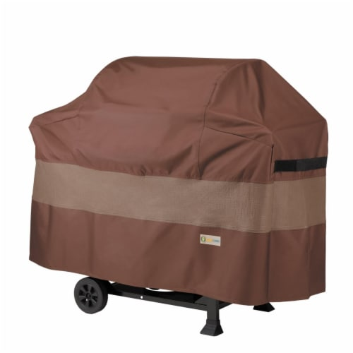 Classic Accessories UBB722249 72 in. Ultimate BBQ Grill & Duck Covers, Mocha Cappuccino Perspective: front