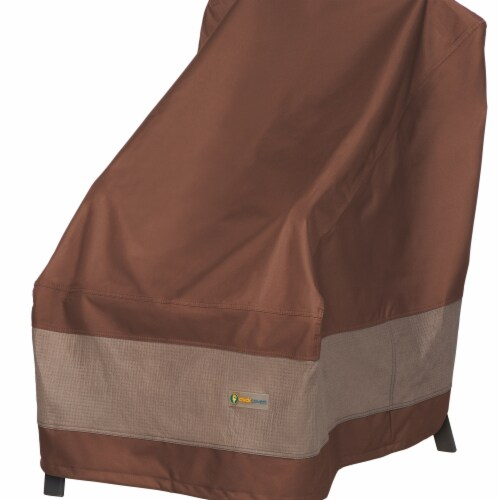 Classic Accessories UCH283535 Ultimate High Back Chair & Duck Covers, Mocha Cappuccino Perspective: front