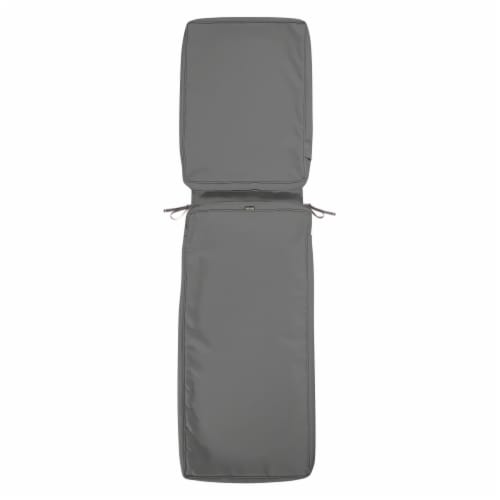 Classic Accessories 60-444-010801-RT Montlake Fadesafe Chaise Lounge Cushion Slip Cover, Ligh Perspective: front