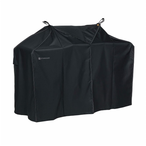 Classic Accessories 56-290-030401-EC Easy Fold BBQ Grill Cover, Charcoal Black - Medium Perspective: front