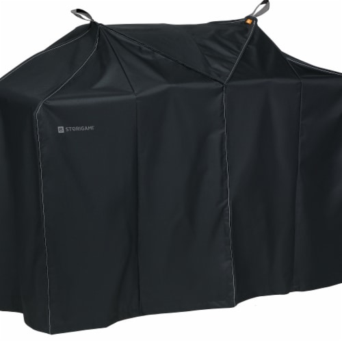 Classic Accessories 56-292-050401-EC Easy Fold BBQ Grill Cover, Charcoal Black - Extra Large Perspective: front