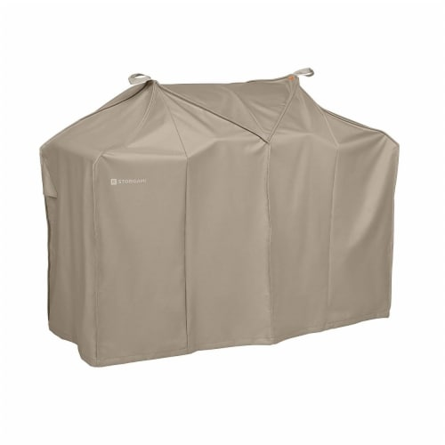 Classic Accessories 56-296-035801-EC Easy Fold BBQ Grill Cover, Goat Tan - Medium Perspective: front