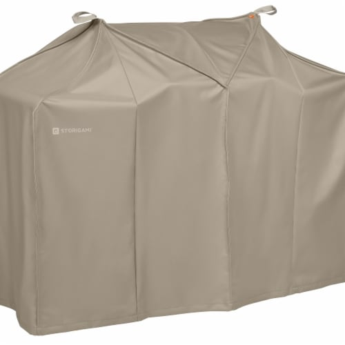 Classic Accessories 56-297-045801-EC Easy Fold BBQ Grill Cover, Goat Tan - Large Perspective: front