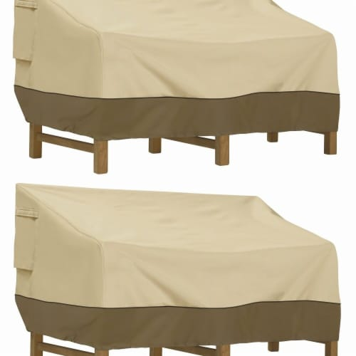 Classic Accessories 55-414-041501-2PK Large Veranda Deep Seated Patio Sofa & Loveseat Cover - Perspective: front