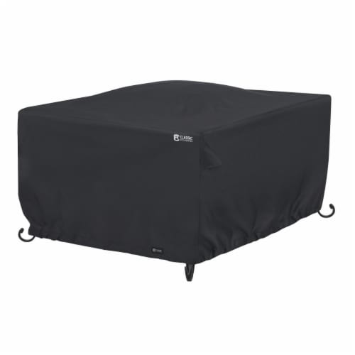 Classic Accessories 56-314-010401-RT 52 in. Square Full Coverage Fire Pit Cover, Black Perspective: front