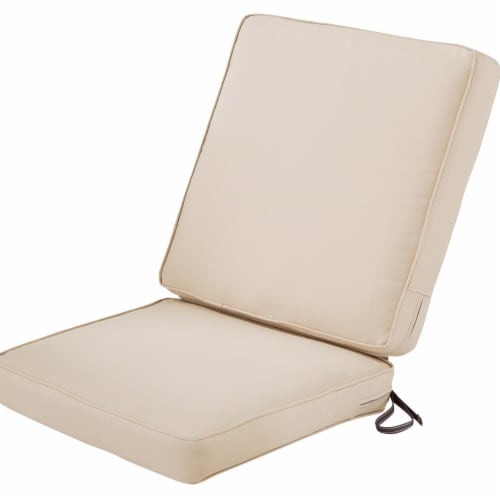 Classic Accessories 62-055-BEIGE-EC Montlake Fadesafe Patio Chair Cushion, Antique Beige - 44 Perspective: front