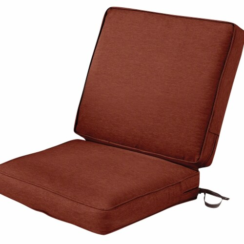 Classic Accessories 62-055-HHENNA-EC Montlake Fadesafe Patio Chair Cushion, Heather Henna - 4 Perspective: front