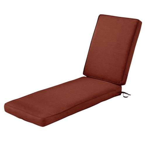 Classic Accessories 62-056-HHENNA-EC Montlake Fadesafe Patio Chaise Lounge Cushion, Heather H Perspective: front