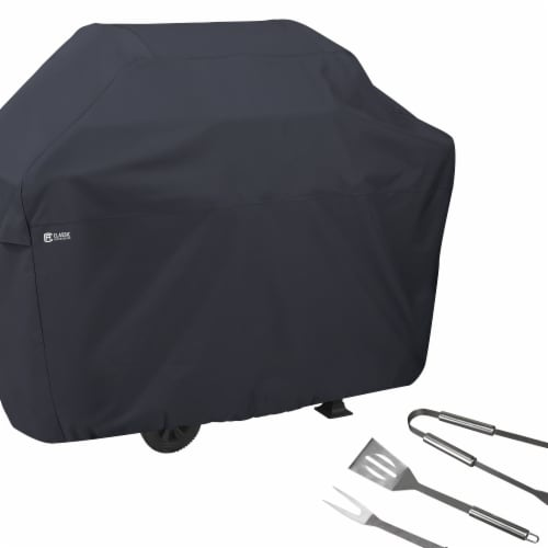 Classic Accessories 55-308-TOOL-EC BBQ Grill Cover with Grill Tool Set - Grilling Spatula, To Perspective: front