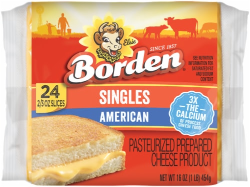 Borden American Cheese Singles Perspective: front