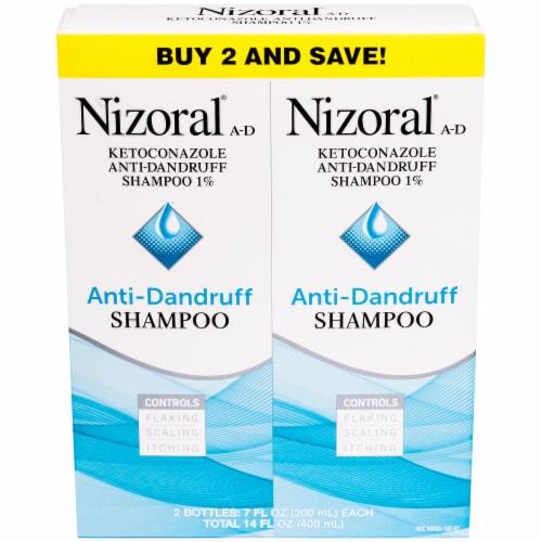 Nizoral A-D Anti-Dandruff Shampoo 2 Count Perspective: front