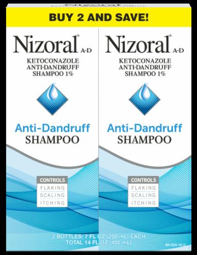 Nizoral Anti-Dandruff Shampoo Twin Pack Perspective: front