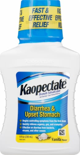 Kaopectate Vanilla Anti-Diarrheal Upset Stomach Relief Liquid Perspective: front