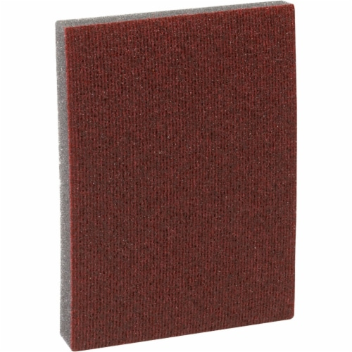 3M Pro-Pad 2.88 In. x 4 In. x 0.5 In. 80 Grit Coarse Sanding Sponge (54-Pack) Perspective: front