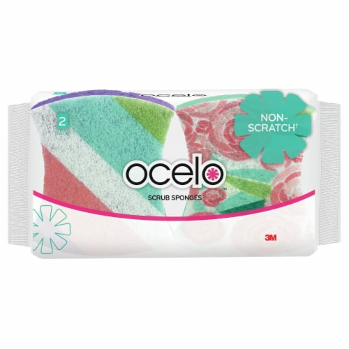 ocelo™ No Scratch Scrub Sponges Perspective: front