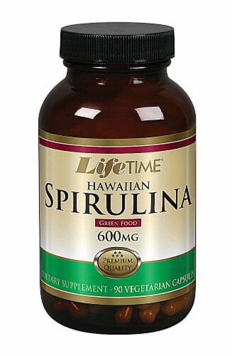 Lifetime Hawaiian Spirulina Capsules 600 mg Perspective: front