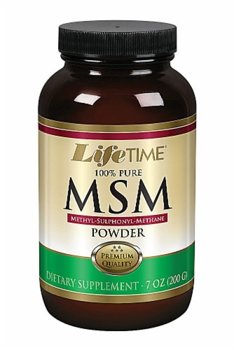 Lifetime  100% Pure MSM Powder Perspective: front