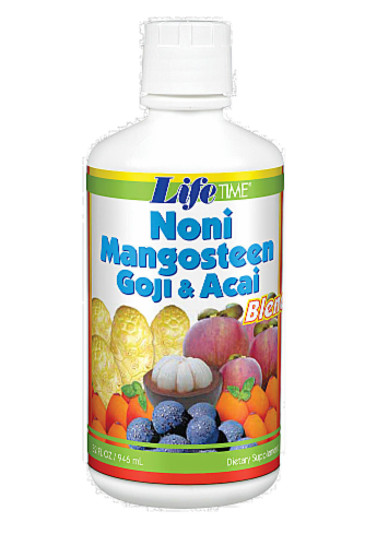 Life Time Noni Goji & Acai Juice Blend Supplement Perspective: front
