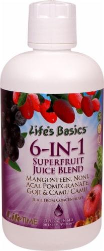 Lifetime  Life's Basics® 6-IN-1 Superfruit Juice Blend Perspective: front