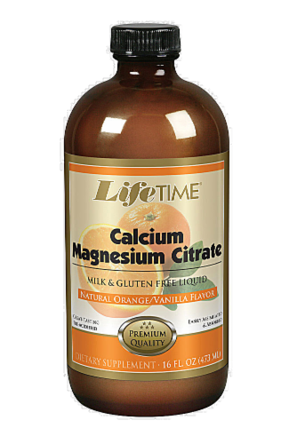 Life Time Orange Calcium Magnesium Citrate Perspective: front