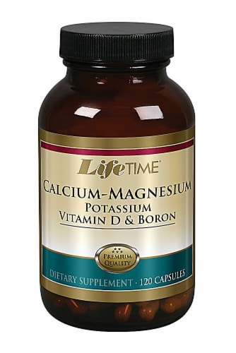 Lifetime Calcium-Magnesuim Potassium Vitamin D and Boron Capsules Perspective: front