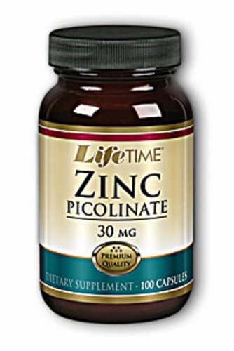 Lifetime  Zinc Picolinate Perspective: front