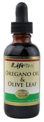 Life Time Oregano Oil & Olive Leaf Extract Perspective: front