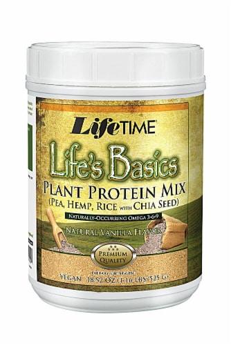 Lifetime's Lifes Basics Vanilla Plant Protein Mix Perspective: front