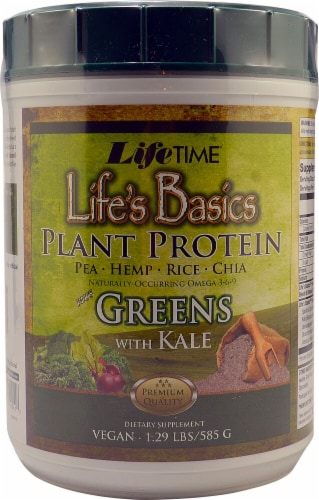 Lifetime's Life Basics Mix Greens Plant Proteins Perspective: front