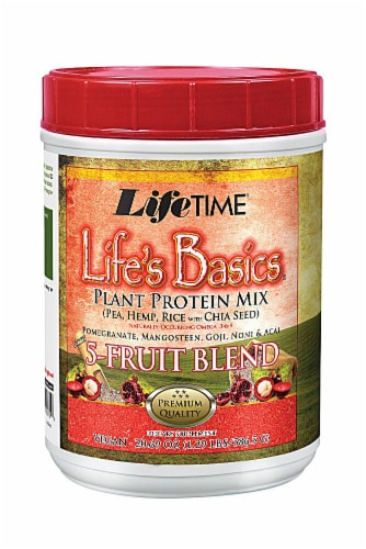 Lifetime's Life's Basics Fruit Blend Plant Protein Mix Perspective: front