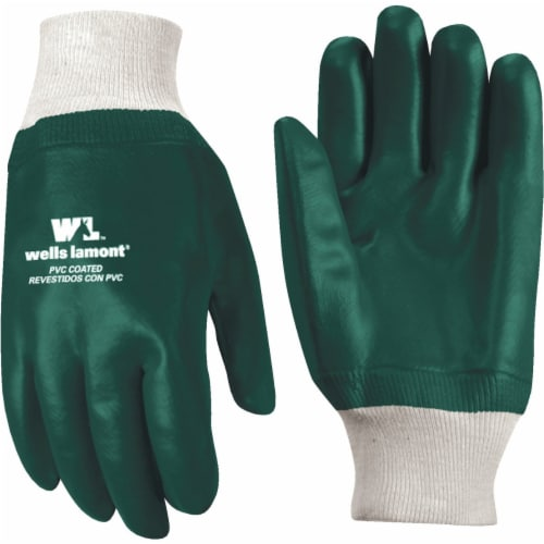 Wells Lamont Men's PVC Chemical Protection Gloves - Brown Perspective: front