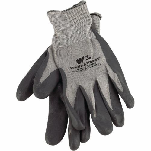 Wells Lamont Men's Large Fine Gauge Knit Nitrile Coated Glove Perspective: front