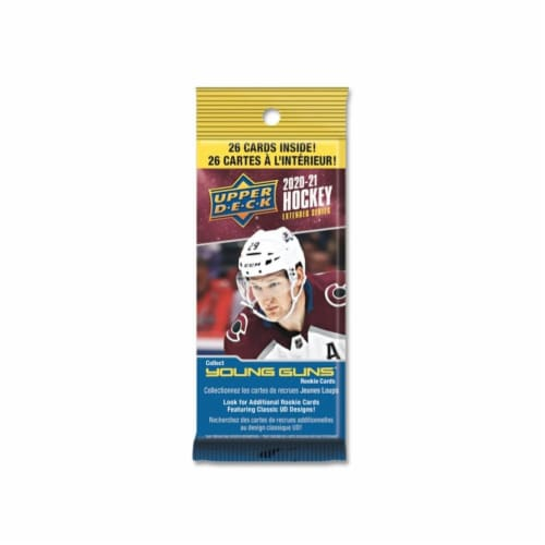 2020/21 Upper Deck Extended Series Hockey Fat Pack Box of 18 Perspective: front