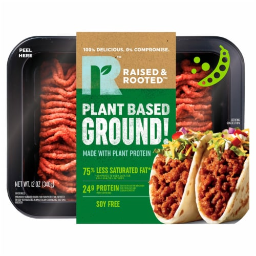 Raised & Rooted™ Plant Based Ground! Meat Alternative Perspective: front