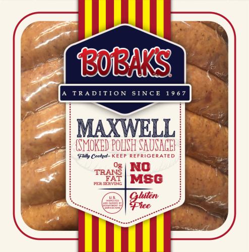 Bobak's Maxwell Smoked Polish Sausage Perspective: front