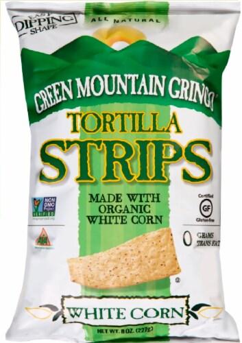 Green Mountain Gringo Organic White Corn Tortilla Strips Perspective: front