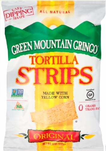 Green Mountain Gringo Original Yellow Corn Tortilla Strips Perspective: front