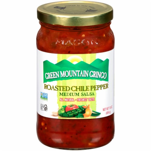 Green Mountain Gringo Roasted Chile Pepper Medium Salsa Perspective: front