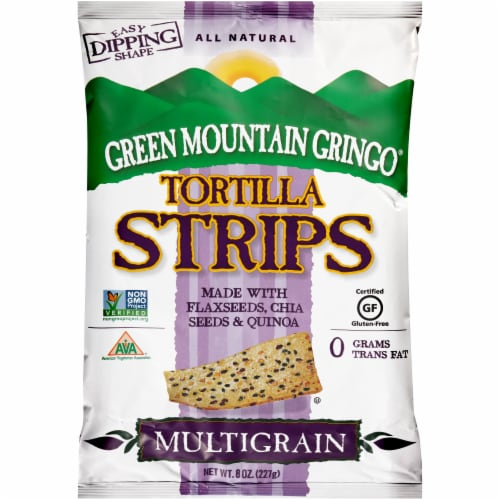 Green Mountain Gringo Multigrain Tortilla Strips Perspective: front