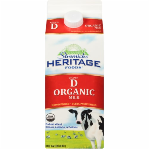 Stremicks Heritage Foods Vitamin D Organic Milk Perspective: front