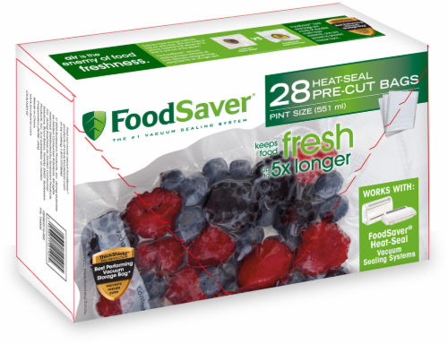 FoodSaver® Pint Bags - 28 pk Perspective: front