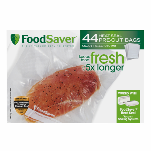 FoodSaver® Quart Bags Food Vacuum Storage Bags Perspective: front