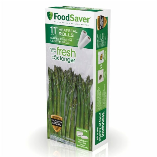 FoodSaver® Heat-Seal Food Storage Rolls - Clear Perspective: front