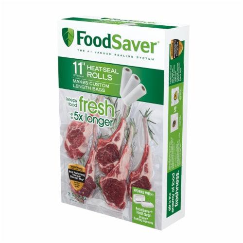 Kroger Foodsaver Heat Seal Rolls 3 Pack White