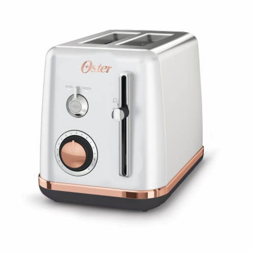 Oster® Metropolitan 2-Slice Toaster - Silver/Rose Gold Perspective: front